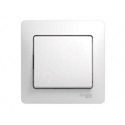 Schneider Electric Glossa Белый Выключатель 1-клавишный схема 1, в сборе с рамкой IP20 скрытая установка GSL000112
