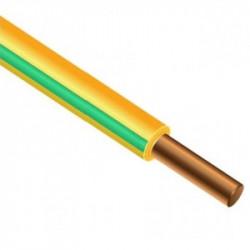 ПВ-1 4 (ПУВ 4) провод медный желто-зеленый