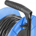 Удлинитель ЗУБР ПРОФИ на металл катушке, КГ 3х1,5 кв.мм, морозостойкий, 4 гнезда, IP44, макс мощност